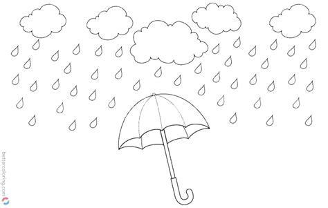 Coloring Page Water by Raindrop Coloring Pages Rainy Water Drops Free Printable