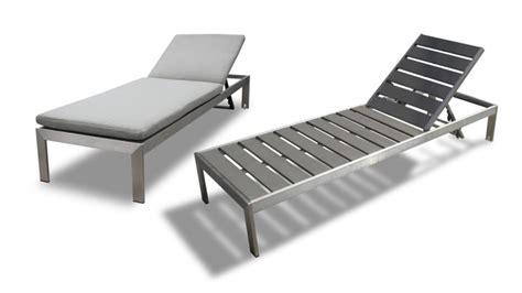 define chaise longue chaise longue en aluminium et r 233 sine aspect bois irwan