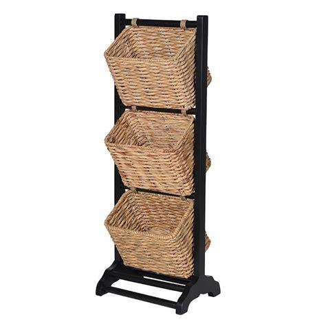 3 tier wicker basket magazine rack mulberry moon