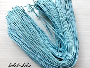 Rantai Tali Kacamata Rantai Kacamata Mutiara Import 2 tali benang kulit 1mm biru muda koleksikikie