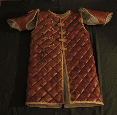 leather gambeson for viking by zbranek on deviantart