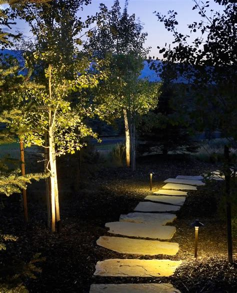 Landscape Lighting Utah Pathway Lighting Rustic Landscape Salt Lake City By Landscape Lighting Pro Of Utah
