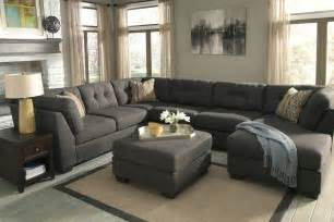 delta city steel 3 sectional sofa with left arm