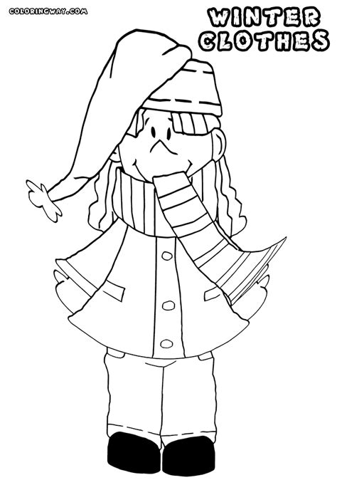 coloring page winter scarf winter scarf coloring pages coloring home