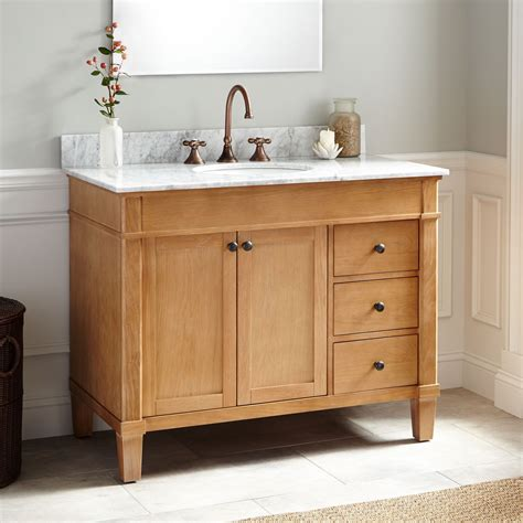 Oak Freestanding Bathroom Furniture 42 Quot Marilla Oak Vanity Bathroom Vanities Bathroom