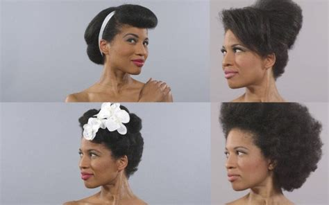 hairstyles through the years video 100 years of black hair styles in 1 minute black
