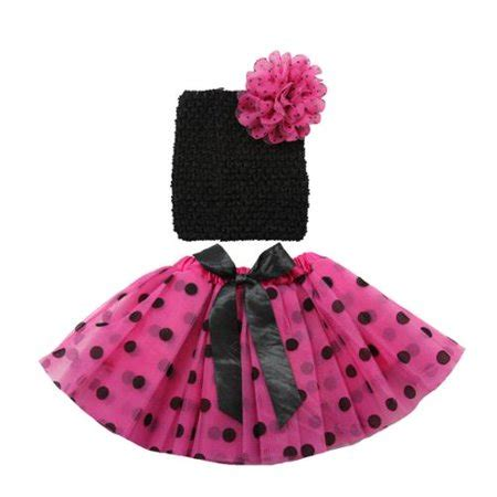 Set Polka Ribbon by Pink Black Polka Dot Ribbon Tutu Headband Set 0