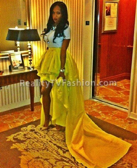 marlo hton s yellow nicci hou ruffled high low skirt at