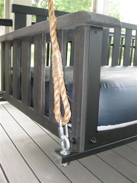 installing a porch swing swing bed hanging rope the porch companythe porch company