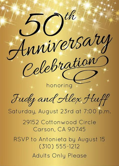 Invitation Letter Wedding Anniversary 25 Best Ideas About 50th Wedding Anniversary Invitations