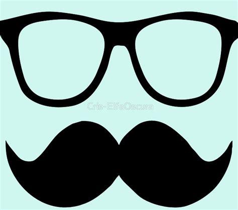 imagenes de lentes kawaii quot gafas con mostacho quot by cris elfaoscura redbubble