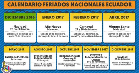 feriados ecuador 2016 calendario 2016 feriados 2016 calendario de ecuador
