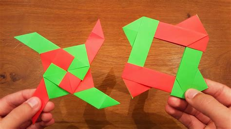 Transforming Origami - how to make a paper transforming 2 origami