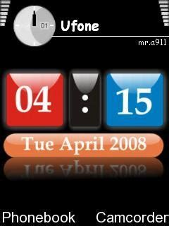 themes digital clock download download digital clock nokia theme mobile toones