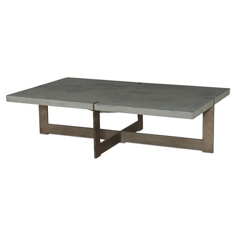 Outdoor Coffee Table Jullen Industrial Loft Grey Rustic Steel Outdoor Coffee Table Kathy Kuo Home