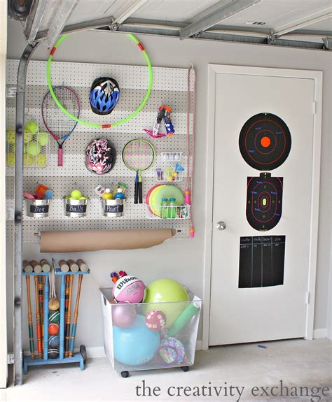 garage toy storage creative ways to get organized with pegboard storage