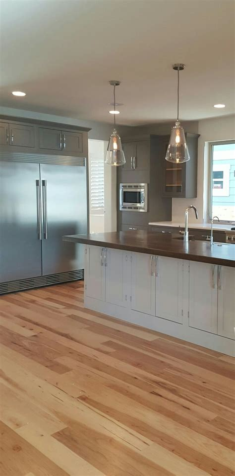 gray floors with hickory cabinets best 25 hickory flooring ideas on hickory