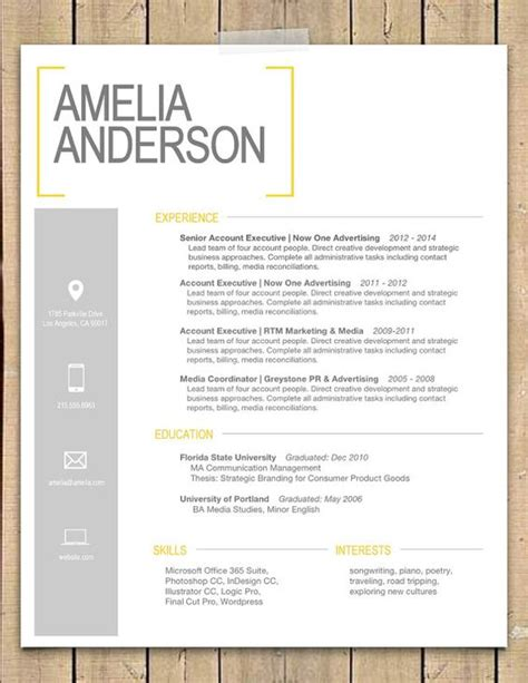 Cover Letter Template Word Doc by Resume Template The Quot Quot Modern Resume Template