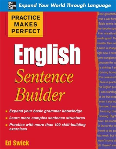 practice makes italian sentence builder books basic grammer books 1 2 sentence builder