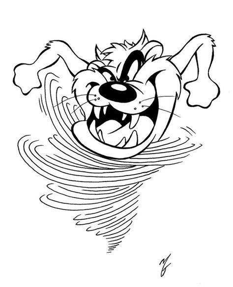 tasmanian devil cartoon coloring pages coloring home