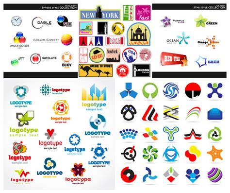 free logo design in ai file download 多款个性精美logo设计矢量素材 矢量标志 懒人图库