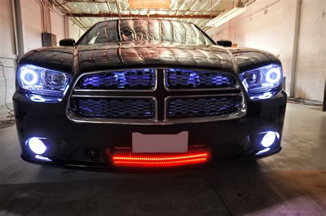 2012 dodge charger headlights 2012 dodge charger multi color colorshift halo kit