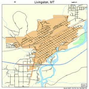 livingston montana map 3043975