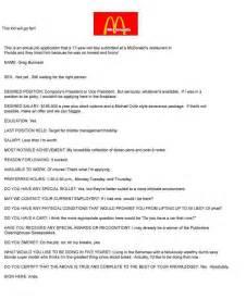 mcdonalds resume student resume template