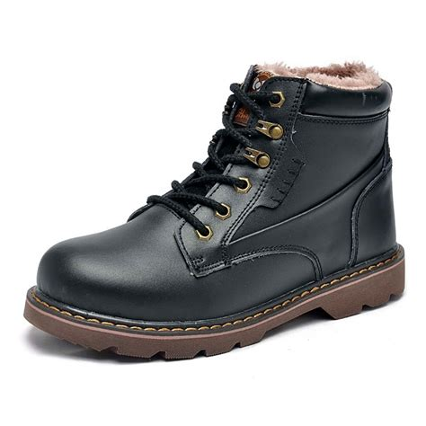 new warm mens winter genuine leather boots outdoor