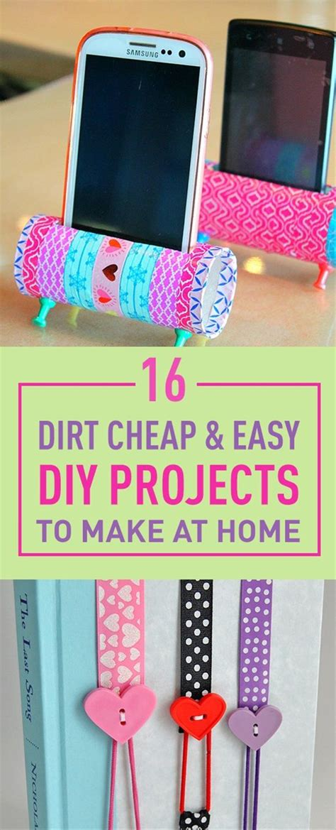 cheap diy home projects 16 dirt cheap easy diy projects to make at home