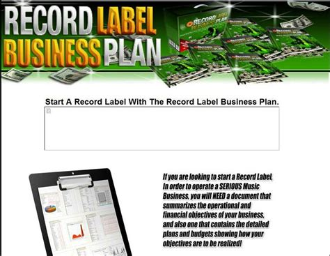 record label business plan template pin by tech ex on world