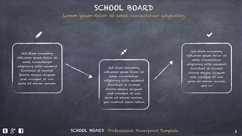 School Board Creative Powerpoint Template By Design47 Powerpoint Board Template