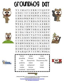 printable word search groundhog day 1000 images about word search on pinterest groundhog