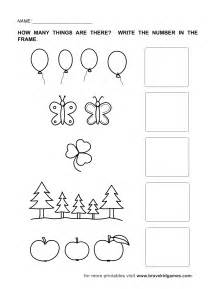 Count And Write Number Worksheets For Kindergarten by Numbers 1 5 Worksheets Kindergarten Preschool Math