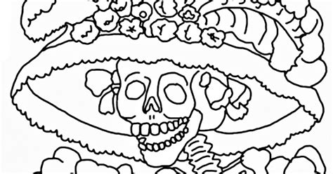 images of the catrina skull coloring pages coloring pages