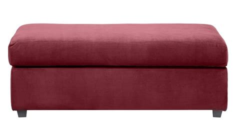 burgundy storage ottoman 249 99 only problem is i don t think it flips into a