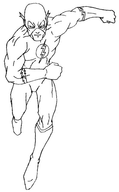 Cw Barry Allen Coloring Pages Coloring Pages Flash Coloring Pages