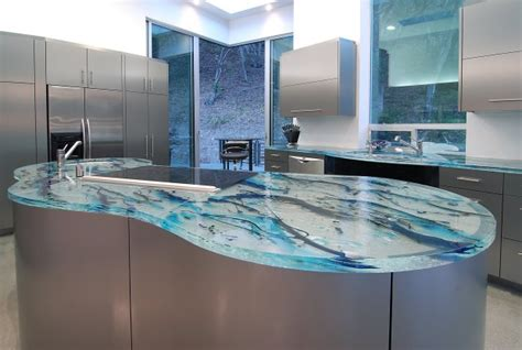 contemporary kitchen countertop material for modern theme modern glass kitchen countertops