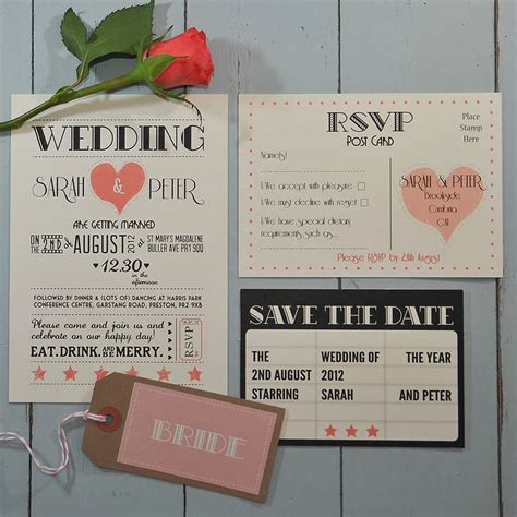 the range wedding invitations wedding invitation by papergrace notonthehighstreet