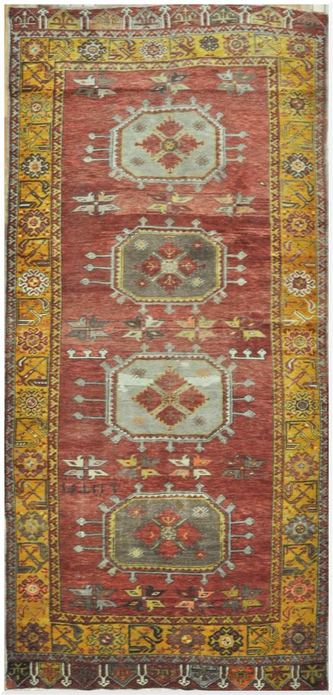 Handmade Runner Rugs - vintage handmade turkish wide runner rug surena rugs