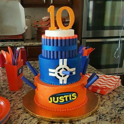 pin  tiffany jonas  nerf war grants  birthday nerf cake nerf birthday party nerf gun
