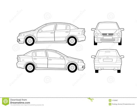 car line diagram generic saloon car diagram stock vector illustration of