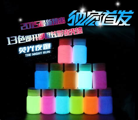 mixing glow in the powder with acrylic paint mixed 12 colors luminous acrylic paints 5 pieces lot