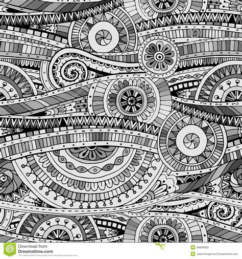 tribal pattern black n white original mosaic drawing tribal doddle ethnic pattern