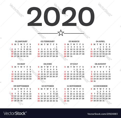 calendar  isolated  white background week vector image