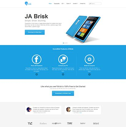 template ja brisk for joomla 2 5 and joomla 3 0 rizvn