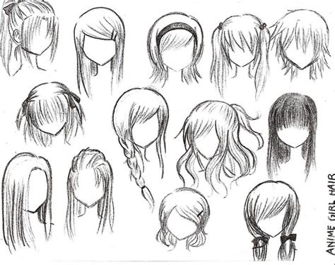 how to draw easy anime hair how to draw female anime hairstyles anime hair rocker