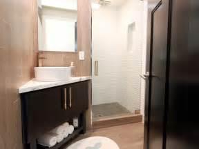 Bathroom with corner vanity in this contemporary bathroom a corner