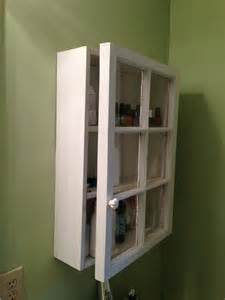 Old window made into a cabinet bathroom pinterest