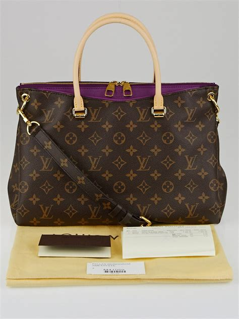 louis vuitton amethyste monogram canvas pallas bag yoogi
